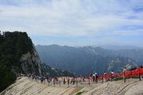 华山西峰台阶摄影照片素材