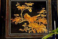 金色花鸟装饰画