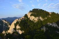 西岳华山南峰山顶风光摄影图片素材