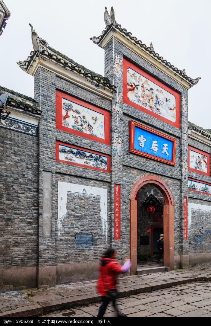 凤凰古城的后天宫大门建筑图片