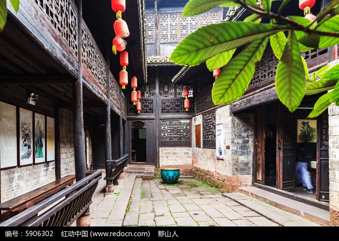 凤凰古城的四觉草堂天井图片