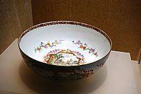 广彩花纹陶碗
