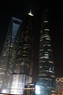 金茂大厦和上海中心大厦夜景