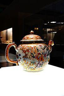 三彩陶瓷壶