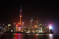 上海东方明珠的灯光