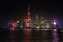 上海东方明珠黄浦江的夜景