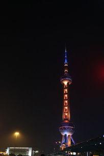 上海东方明珠塔夜景