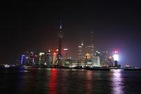 上海东方明珠熄灯时的夜景