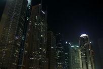 上海陆家嘴金融大厦夜景