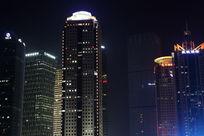 上海陆家嘴金融大厦夜景灯光