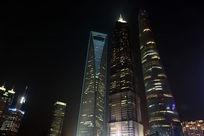 上海外滩中国最高楼夜景