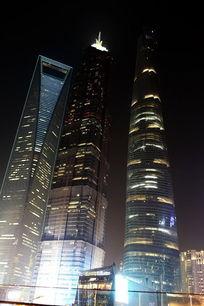 上海最高楼夜景灯光