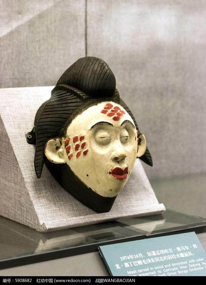 彩绘木雕面具图片,高清大图