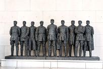 红军长征中的将领们雕塑