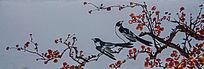 廓檐壁画之喜鹊登枝