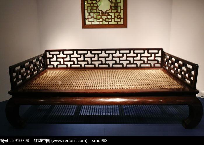 明代紫檀木围子罗汉床图片
