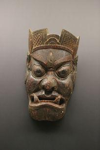 清代土家族大王面具木雕