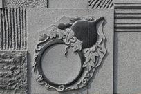 壁刻葫芦图案星子金星砚