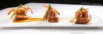 美味培根虾卷