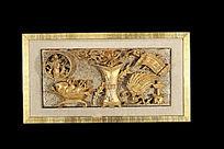 丰玉满堂金漆木雕花板
