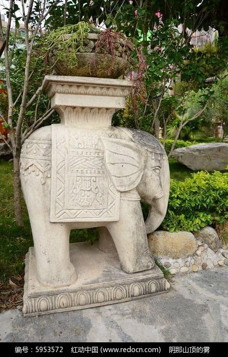 巴厘大象石雕装饰风情校运会标志设计57图片