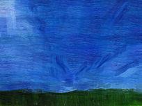 电脑油画《山野之云》