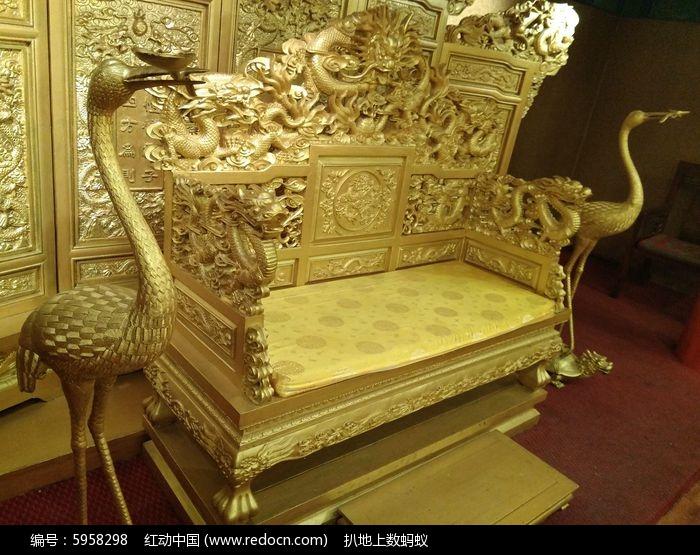 古代皇宫龙椅图片图片