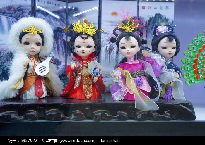 古代四大美女人偶图片