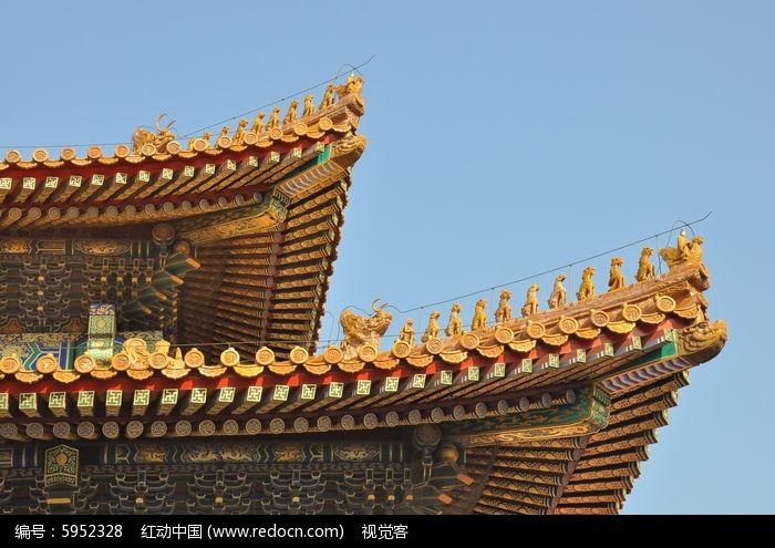 故宫古式建筑屋檐