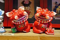红色中国狮