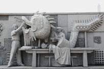 九江非遗湖口草龙制作的雕像