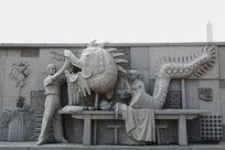 九江非遗湖口草龙制作雕像