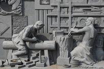九江非遗星子金星砚制作雕像