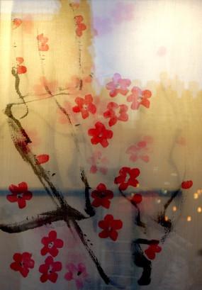 丝织梅花花瓣