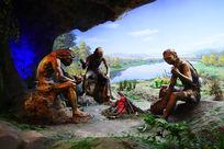 仙人洞遗址远古人类雕塑
