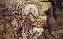 西夏时期敦煌壁画《唐僧取经图》