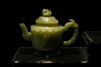 青玉寿字茶壶