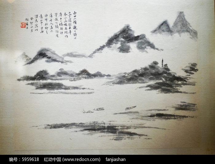 山水绘画图片