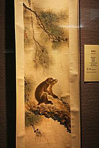 树上猴子工笔画