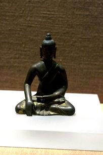 铜泥金弥勒菩萨像