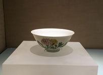 粉彩折枝花卉纹碗