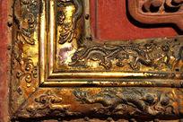 故宫门上龙形鎏金装饰图纹