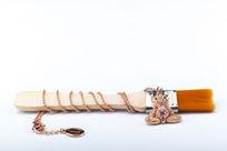 毛刷饰物金钻小熊项链