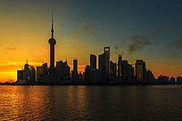 上海陆家嘴的黎明时分