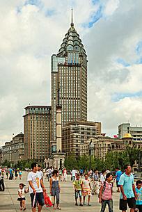 上海外滩的高层建筑