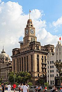 上海外滩的钟楼建筑