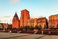 上海外滩黎明时分的风光