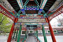 中山公园 长廊彩绘