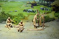 古代编织纺织场景