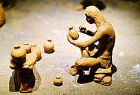 古代陶艺制作场景